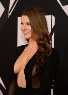 MILAN, ITALY - OCTOBER 25: Model Amanda Cerny attends the MTV EMA's 2015 at Mediolanum Forum on October 25, 2015 in Milan, Italy. (Photo by Kevin Mazur/WireImage)